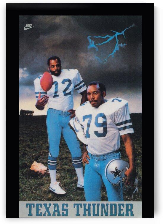 1982 Nike Texas Thunder Too Tall Jones Poster by Row One Brand