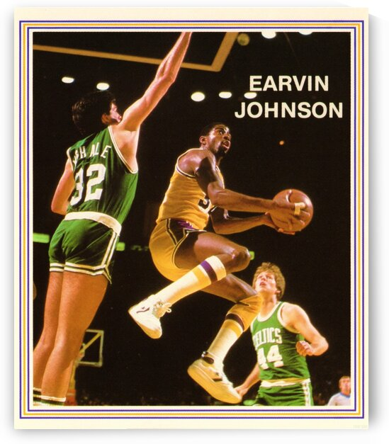 1985 Magic Johnson Poster by Row One Brand