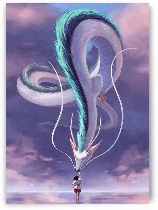 Spirited Away Chihiro Haku Art by animenew