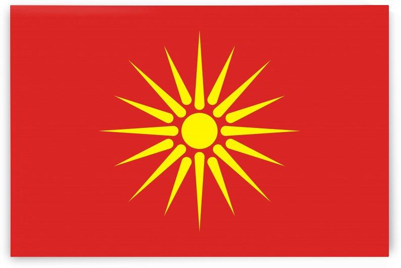 old Macedonia flag by Tony Tudor