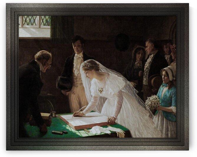 The Wedding Register by Edmund Blair Leighton Old Masters Reproduction by xzendor7