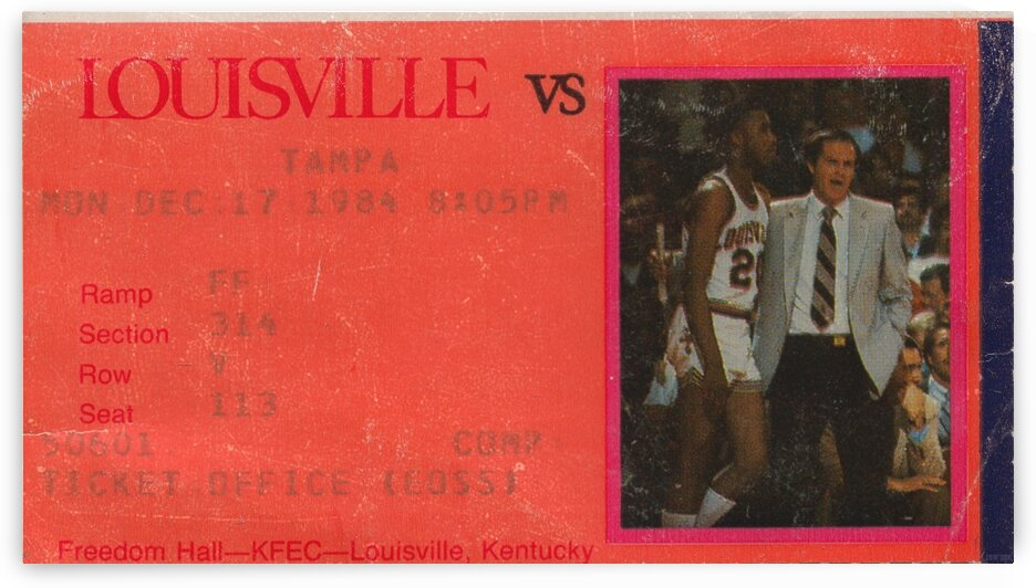 1984 Tampa vs. Louisville Cardinals Basketball by Row One Brand