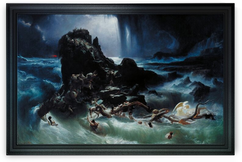 The Deluge by Francis Danby Classical Art Old Masters Reproduction by xzendor7