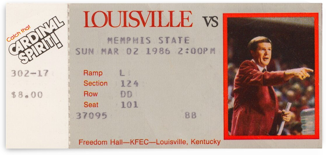 1986 Louisville vs. Memphis State by Row One Brand