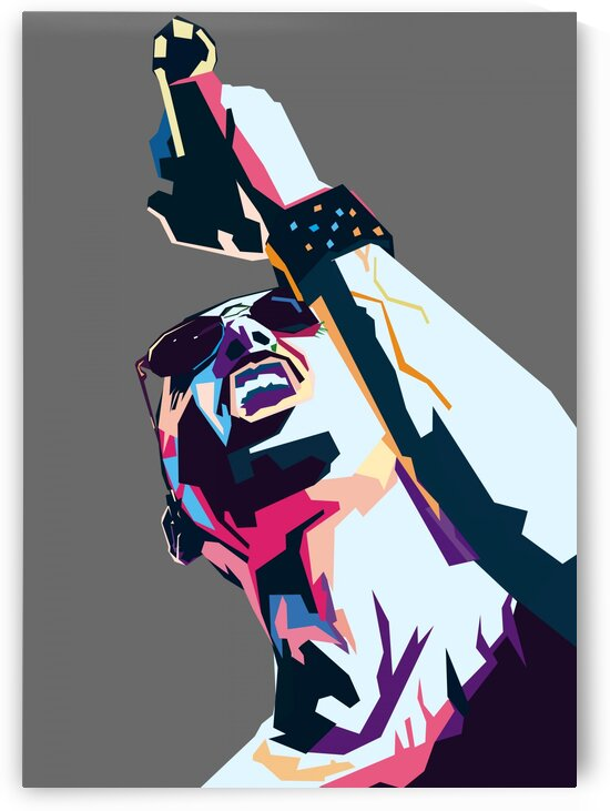 Chester Bennington POP ART WPAP STYLE by RANGGA OZI