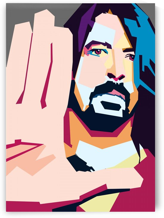 Dave Grohl POP ART WPAP STYLE by RANGGA OZI