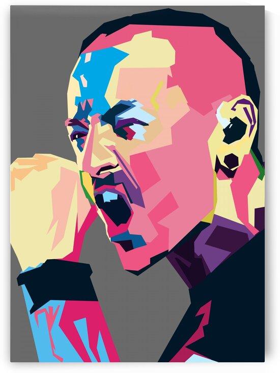 Chester Bennington POP ART WPAP STYLE 2 by RANGGA OZI
