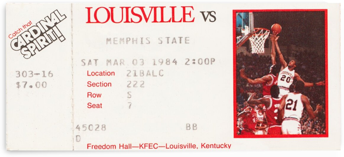 1984 Louisville vs. Memphis by Row One Brand