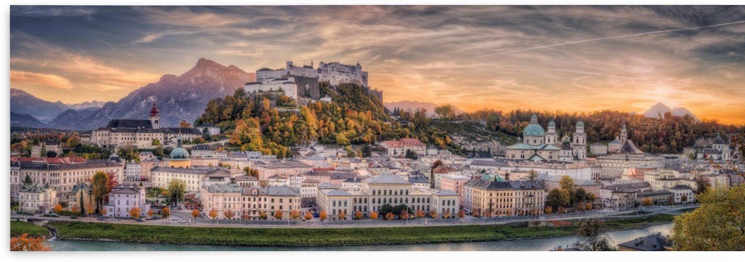 Salzburg in Fall Colors by Stefan Mitterwallner  by 1x