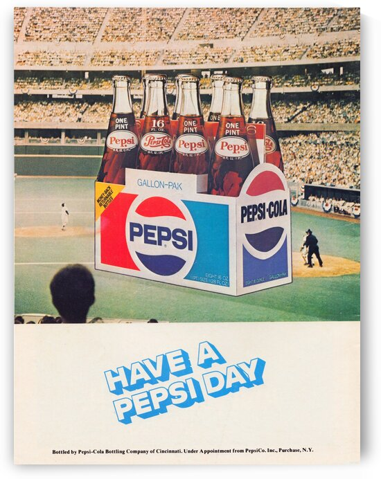 1977 Pepsi Baseball Ad by Row One Brand