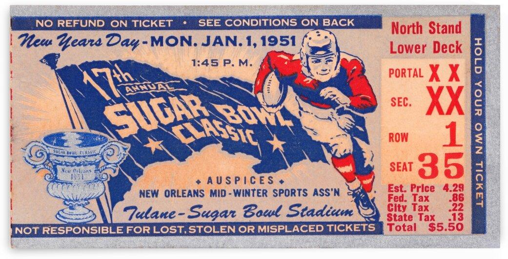 1951 Sugar Bowl Kentucky Win by Row One Brand