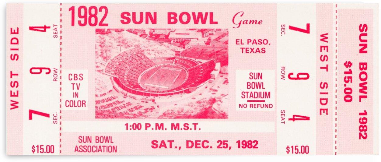 1982 Sun Bowl North Carolina Win by Row One Brand