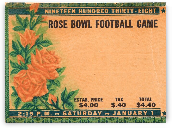 1938 Rose Bowl California Win by Row One Brand