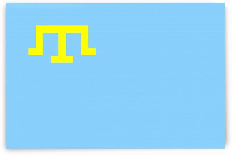Crimean Tatar people flag by Tony Tudor