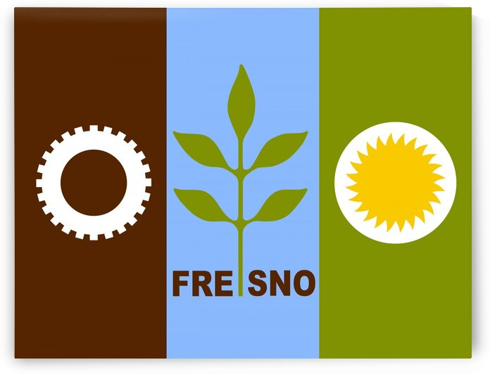 Fresno city California flag by Tony Tudor
