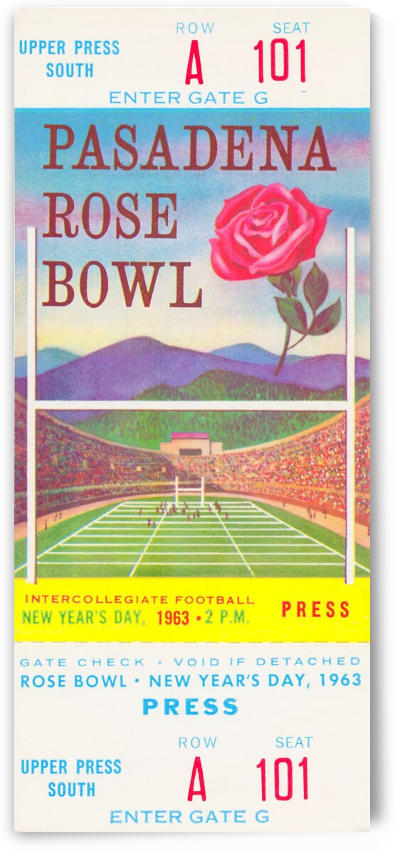 1963 Rose Bowl USC Win by Row One Brand