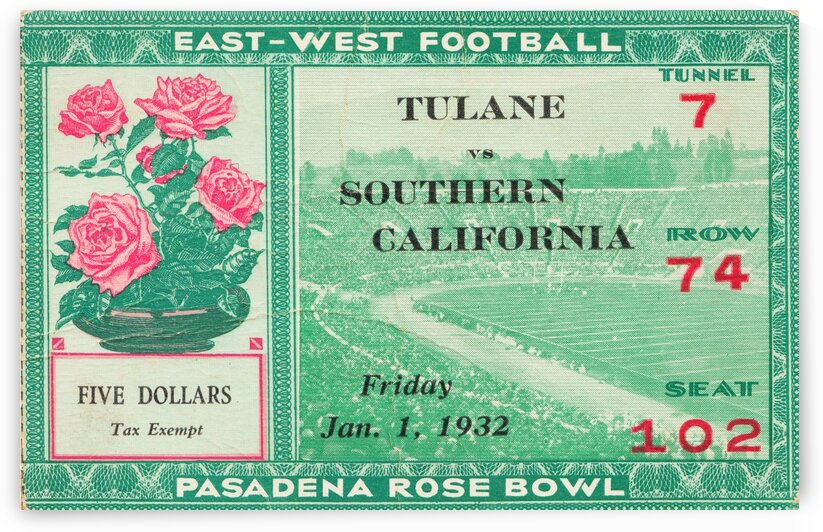 1932 Rose Bowl USC Win by Row One Brand