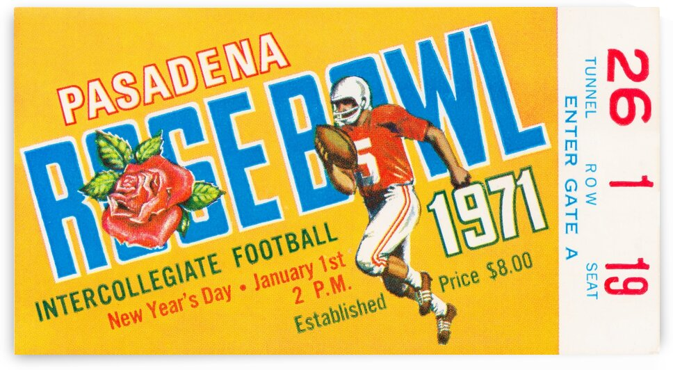 1971 Rose Bowl Stanford Win by Row One Brand