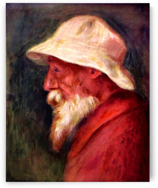 Selfportrait with white hat by