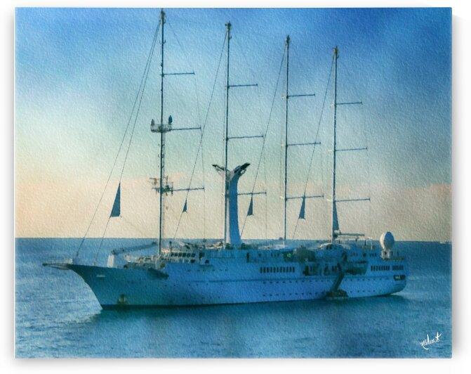 St Tropez Yacht 2007 by Nancy Calvert