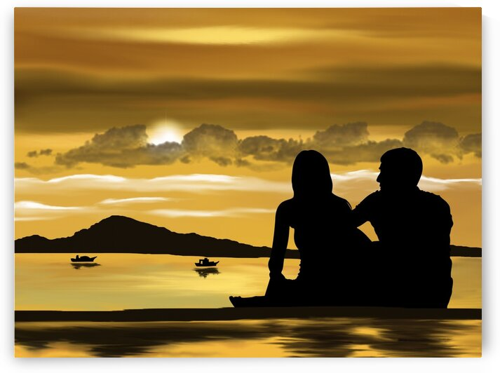 Romantic Couple at the beach by Lovely and Nicely