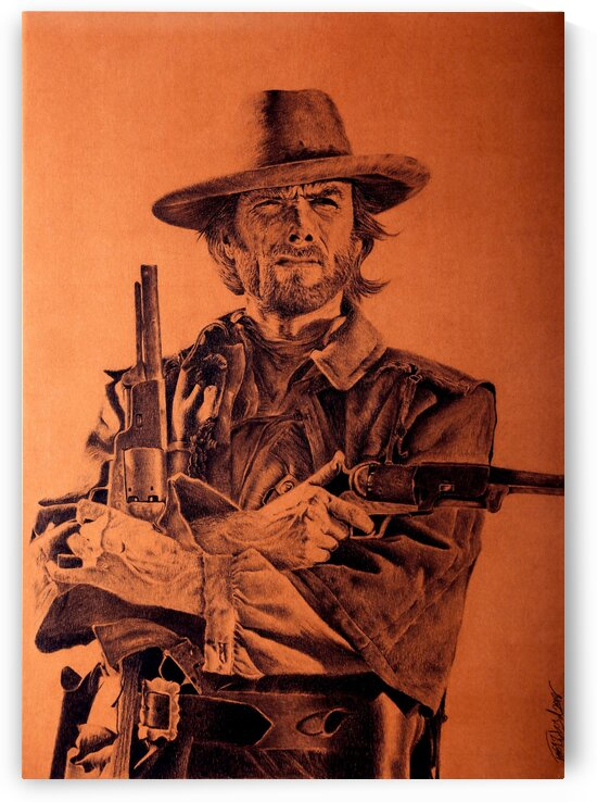 Clint Eastwood  by Tpencilartist