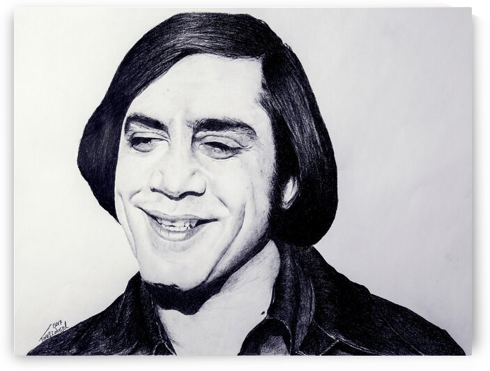 Javier Bardem_No Country for Old Men by Tpencilartist