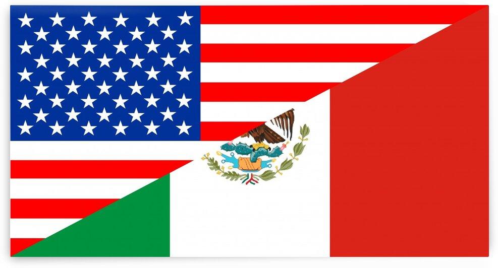 usa mexico by Tony Tudor