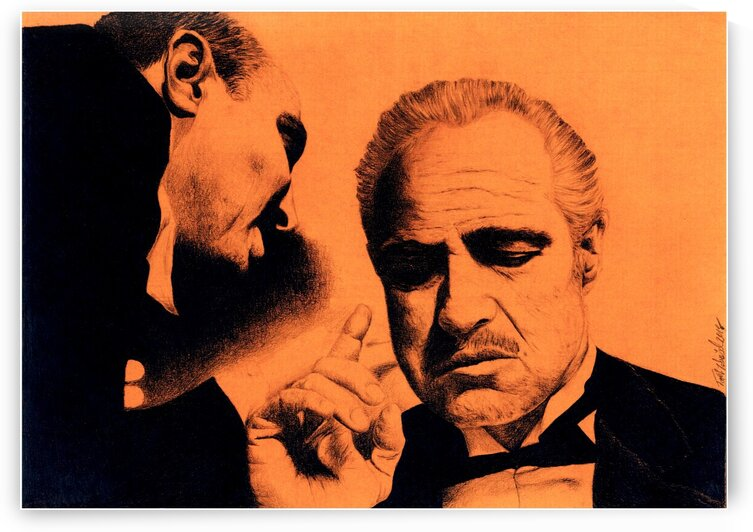 The Godfather_Marlon Brando by Tpencilartist