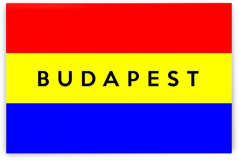 Budapest text flag by Tony Tudor