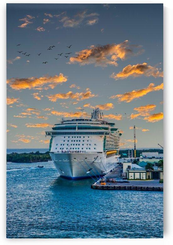 Cruise Ship Tied to Dock Edit Luminar4 edit by Darryl Brooks