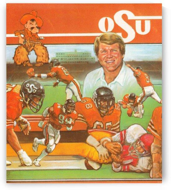 1982 Jimmy Johnson OSU Cowboys Poster by Row One Brand
