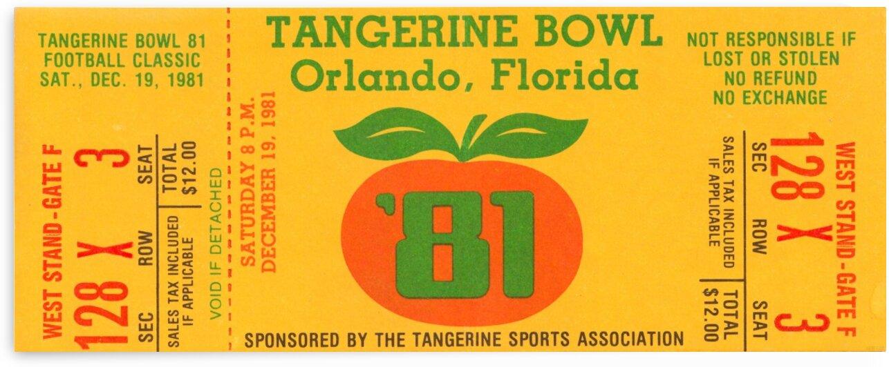 1981 Tangerine Bowl Missouri Win by Row One Brand