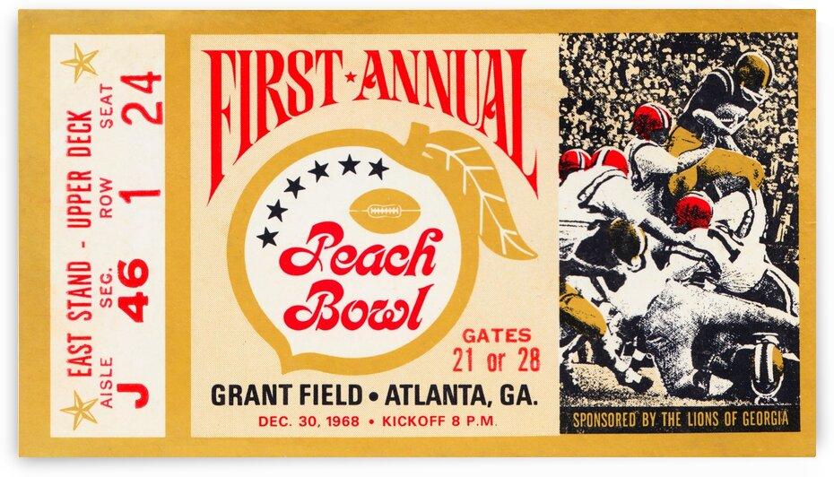 1968 First Peach Bowl LSU Win by Row One Brand