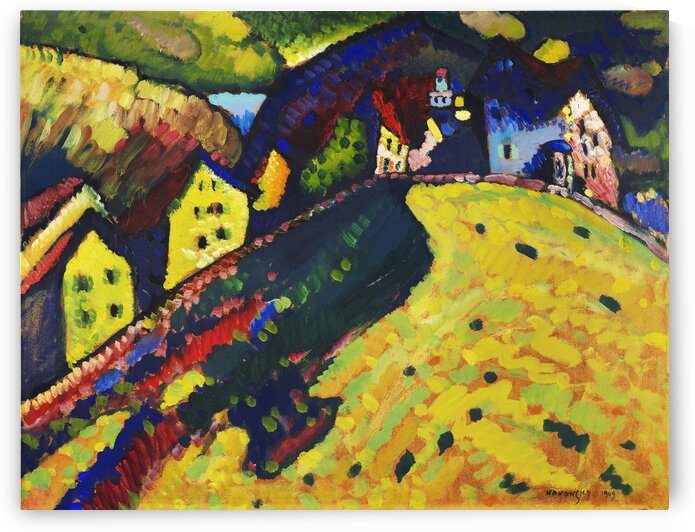 Houses at Murnau by Tony Tudor