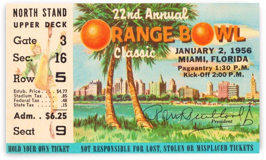 1956 Orange Bowl Oklahoma National Champs by Row One Brand