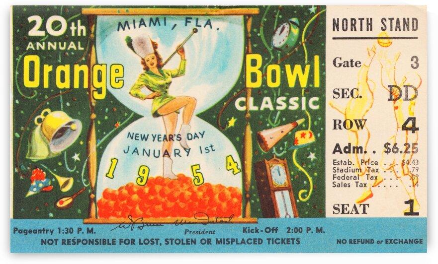 1954 Orange Bowl Oklahoma Win by Row One Brand