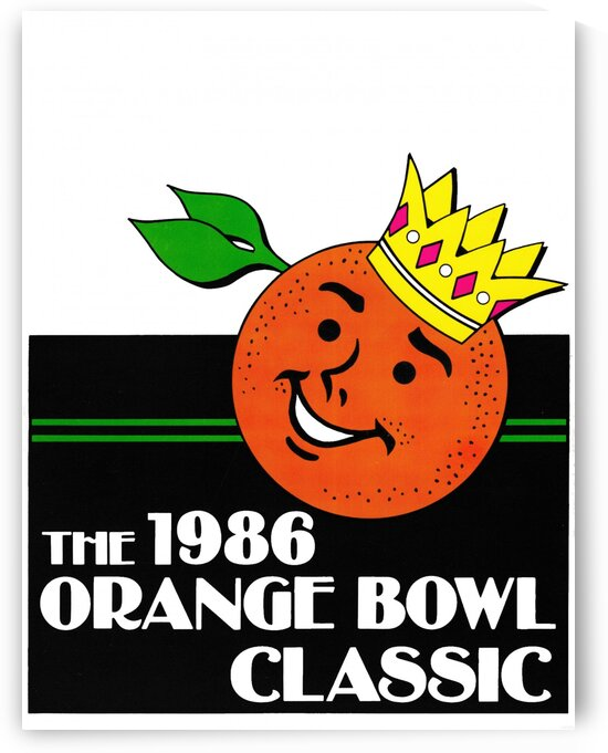 1986 Orange Bowl Poster Oklahoma National Champs by Row One Brand