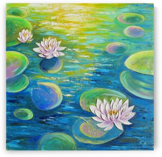 water lilies by Anna Ponomarenko