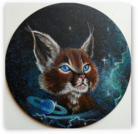 Caracal cat animal art by Anna Ponomarenko