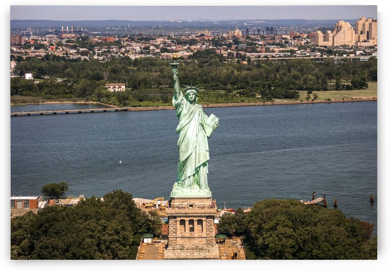 Aerial view of the Statue of Liberty by Tony Tudor