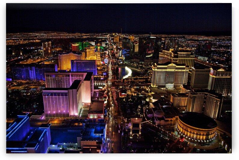 Aerial photograph of the Las Vegas Strip by Tony Tudor