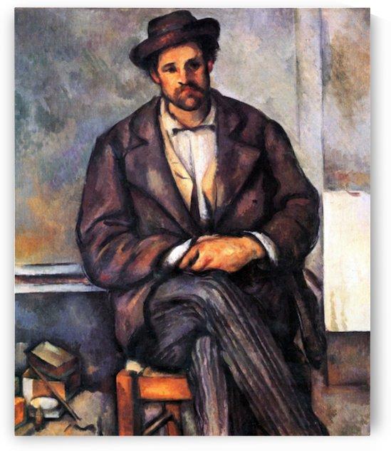 Sitting Farmer by Cezanne by Cezanne