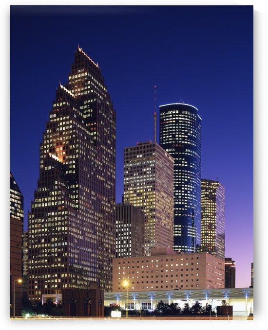 City of Houston by Night by Tony Tudor