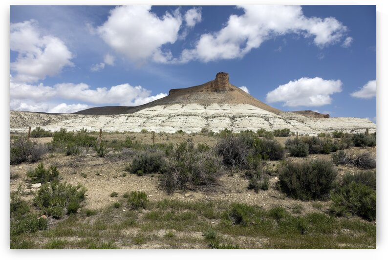 Castle Rock  a formation overlooking Green River  Wyoming by Tony Tudor