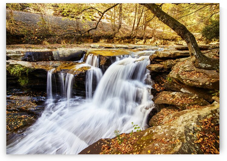 Dunloup Falls near the largely abandoned old coal town of Thurmond in Fayette County  West Virginia by Tony Tudor