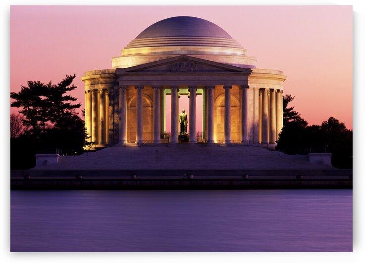 Jefferson Memorial at dusk by Tony Tudor