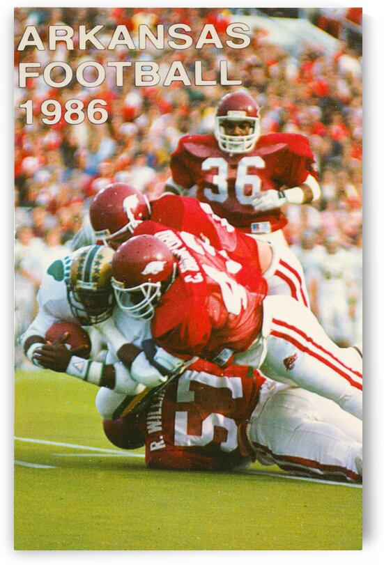 1986 Arkansas Football Poster by Row One Brand