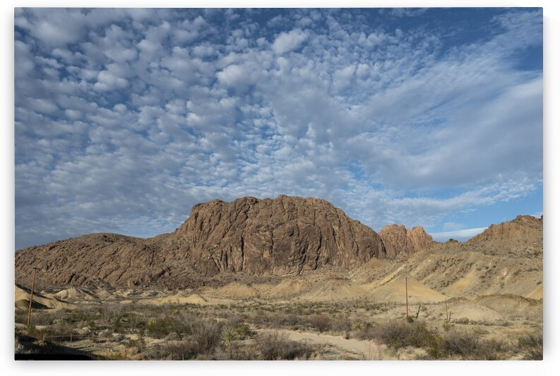 Rugged terrain north of Big Bend National Park in the Trans Pecos region of southwest Texas. by Tony Tudor