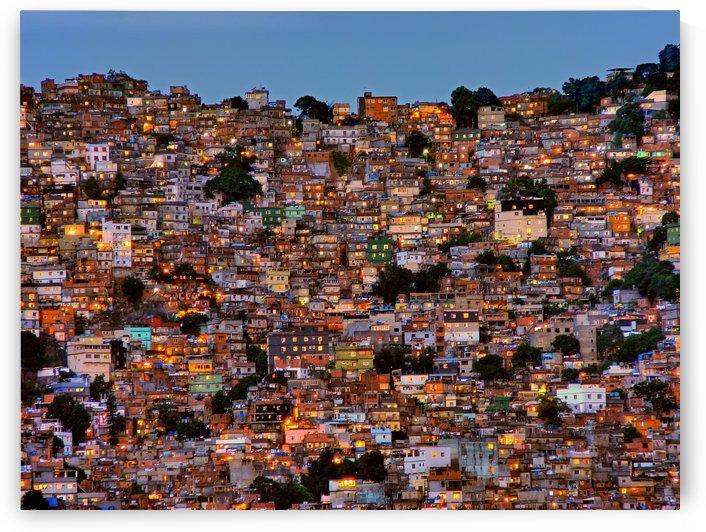Nightfall in the Favela da Rocinha by 1x